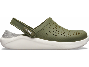 Crocs LiteRide Clog - Army Green/White
