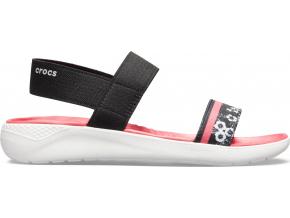 Crocs LiteRide Hyper Floral Sandal W - Black/White