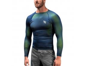 hayabusa fusion rashguard blue green f1