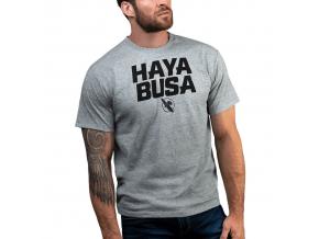 tricko hayabusa casual logo grey f1
