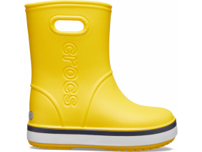 Crocs Crocband Rain Boot K Yellow/Navy