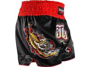 Muay Thai kraťasy Ground Game RED TIGER