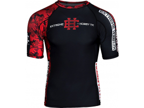 Rashguard - funkční tričko Extreme Hobby RED WARRIOR - krátký rukáv