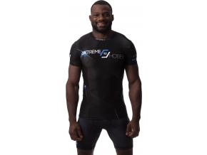 Rashguard - funkční tričko Extreme Hobby MT SPORT - krátký rukáv - modrý