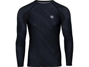 Rashguard - funkční tričko Extreme Hobby BASIC SHADOW - dlouhý rukáv - černý
