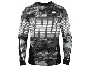 venum 03746 220 tshirt long sleeves dlouhy rukav triko urbancamo black grey f1