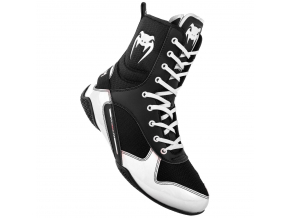 venum 03681 108 boxing shoes boxerske boty elite black white f1