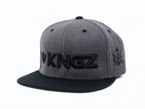 kingz logo dark gray grande backpack ksiltovka