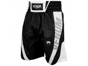 venum 03452 108 boxing short elite black white boxerske sortky f1