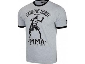 Pánské tričko Extreme Hobby MMA - šedé