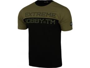 Pánské tričko Extreme Hobby BLOCK STRIPED - khaki