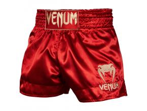 venum 03813 532 short muay thai classic maroon gold f1