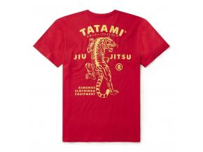 tshirt tatami tiger bjj red cervene tricko triko f2