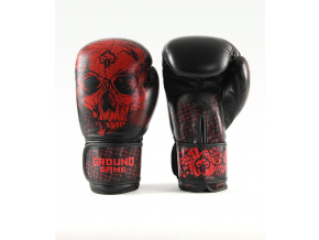 boxerske rukavice ground game red skull f1