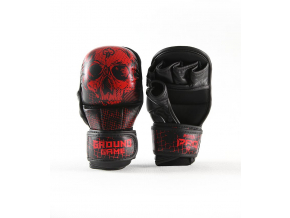 sparringove mma rukavice ground game red skull f1