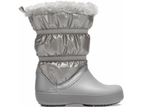 Crocs Crocband LodgePoint Metallic Boot G Silver Metallic