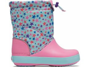 Crocs Crocband LodgePoint Graphic Winter Boot K Ice Blue/Pink Lemonade