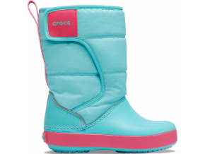 Crocs LodgePoint Snow Boot K - Ice Blue/Pool