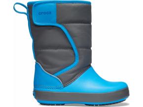 Crocs LodgePoint Snow Boot K Slate Grey/Ocean
