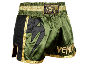 muay thai shorts venum giant khaki black 1