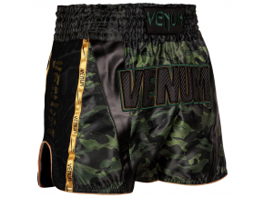 muay thai shorts venum full cam forestcamo black 2
