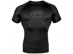 rashguard short venum giant plazma black black 2