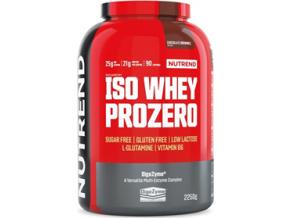 Nutrend Iso Whey Prozero 2250 g + Glutamine 300 g ZDARMA