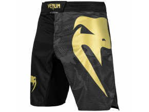 mma shorts venum light 3.0 gold black 1
