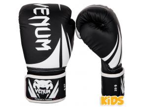 boxerky kids venum challenger 2.0 black white 1