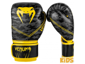 boxerky venum kids okinawa 2.0 black yellow 1
