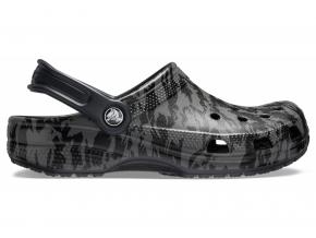 Crocs Classic Printed Camo Clog Black Black