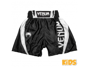 shorts boxing kids venum elite black white 1