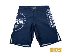 detske mma shorts venum signature navyblue 1