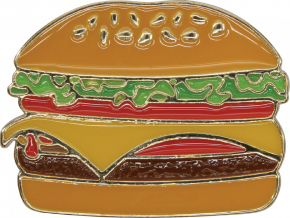 Crocs Odznáček Jibbitz - Metal Cheeseburger
