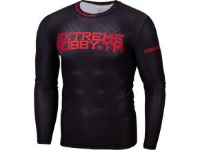 Rashguard - funkční tričko Extreme Hobby BLACK ARMOUR - dlouhý rukáv - černý