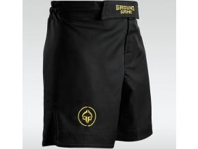 MMA kraťasy Ground Game ATHLETIC GOLD - černé