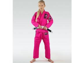 Dětské BJJ kimono / gi Ground Game Junior 3.0 - Růžové