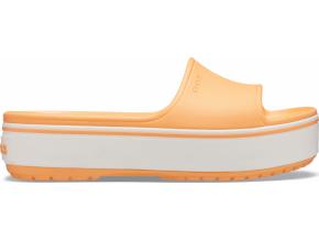 Crocs Crocband Platform Slide Cantaloupe/White