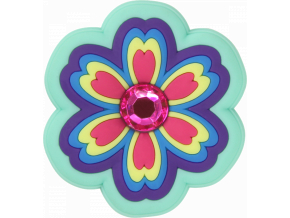Crocs Odznáček Jibbitz - Rhinestone Rainbow Flower