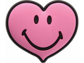 Crocs Odznáček Jibbitz - Smiley Brand Pink Heart