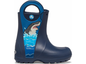 CrocsFL Shark Ptch Rain Boot B Navy