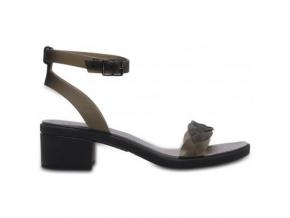 crocs isabella block heel w black graphite 1