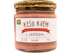 Božské oříšky Kešu krém s jahodami 190 g