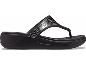 Crocs Monterey Metllc Wdg Fp W Dark Charcoal/Black