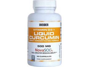 Weider Curcumin Liquid + Vitamin D3  90 kapslí