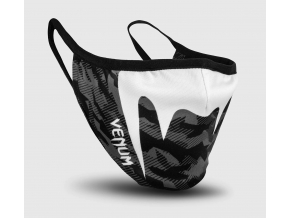 venum face mask black dark camo f1