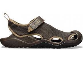 Crocs Swiftwater Mesh Deck Sandal M Espresso