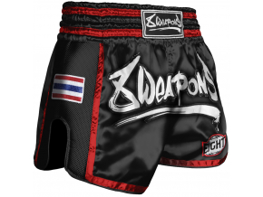 8WeaponsMuayThaiShorts SuperMesh black red