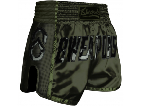 8 weapons muay thai short noir olive1
