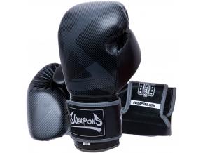 8 weapons boxhandschuhe hit schwarz matt